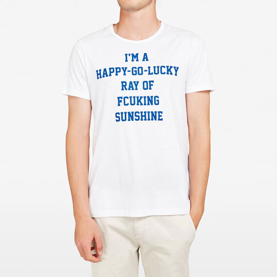 RAY OF FCUKING SUNSHINE CREW NECK T-SHIRT  WHITE/PRINCES BLUE  hi-res