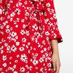 DAISY WRAP DRESS  RED/MULTI  hi-res