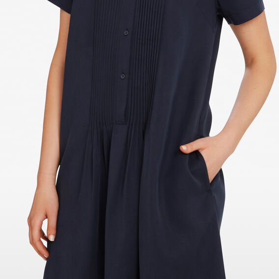 TENCEL SHIFT SHIRT DRESS  NOCTURNAL  hi-res