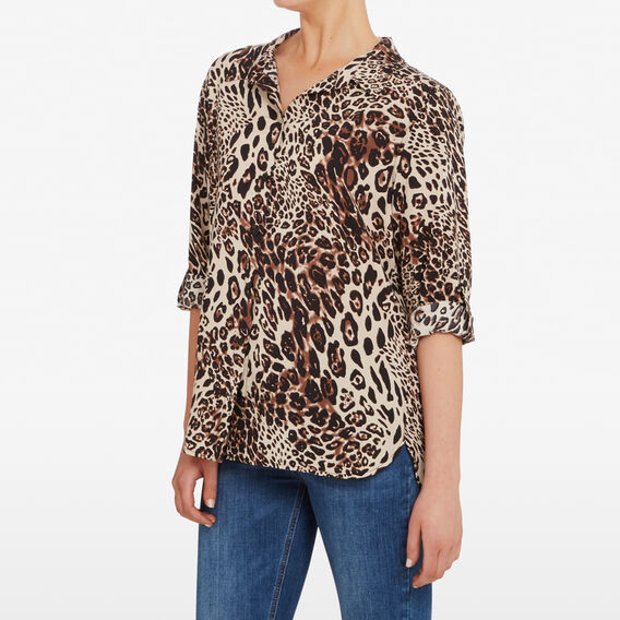 OCELOT PRINTED SHIRT  MULTI  hi-res