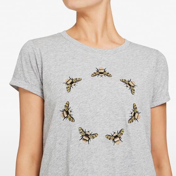 EMBELLISHED CIRCLE OF BEES  GREY MARLE/MULTI  hi-res