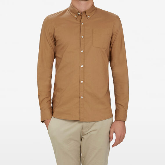 TOBACCO OXFORD CUSTOM FIT  TOBACCO  hi-res