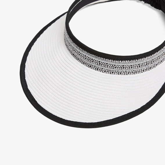SUMMER MONOCHROME VISOR  BLACK/WHITE/SILVER  hi-res
