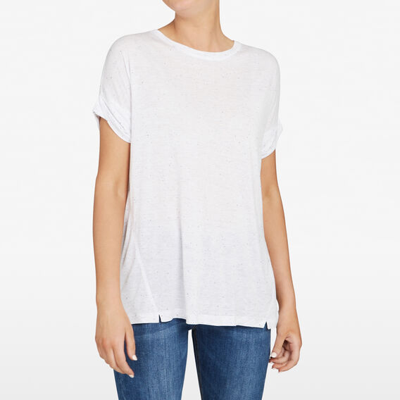 RELAXED SPECKLE TEE  SUMMER WHITE/NOCTURN  hi-res
