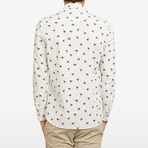 OSTRICH CUSTOM FIT SHIRT  WHITE  hi-res