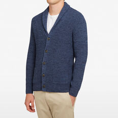NAVY SHAWL NECK CARDIGAN  NAVY MELANGE  hi-res