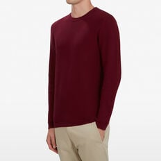 TEXTURED BURGUNDY KNIT  DARK BURGUNDY  hi-res