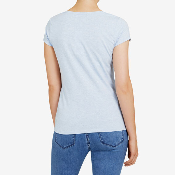 HAYLEY STRETCH SCOOP NECK TEE  ICEBERG MARLE  hi-res