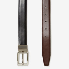 REVERSIBLE LEATHER BELT  BLACK  hi-res