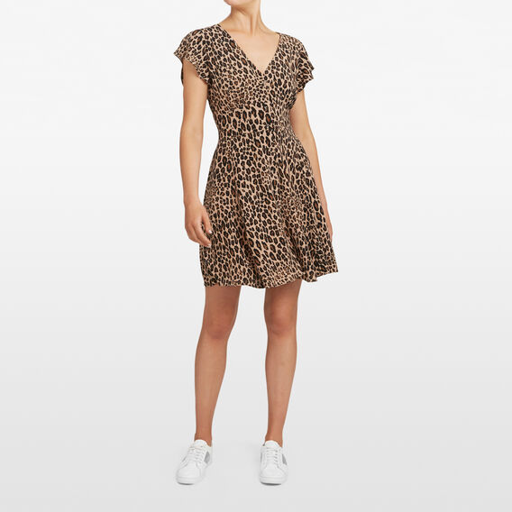 ANIMAL PRINT TEA DRESS  MULTI  hi-res