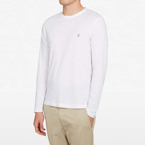 CLASSIC LONG SLEEVE T-SHIRT  WHITE  hi-res