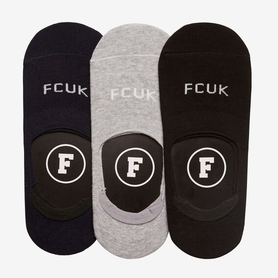 NO SHOW 3 PACK SOCKS  BLACK/GREY /NAVY  hi-res