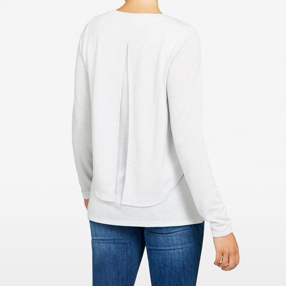 DOUBLE LAYER TEE  OATMEAL MARLE  hi-res