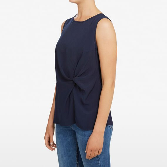 KNOT FRONT SLEEVELESS TEE  NOCTURNAL  hi-res