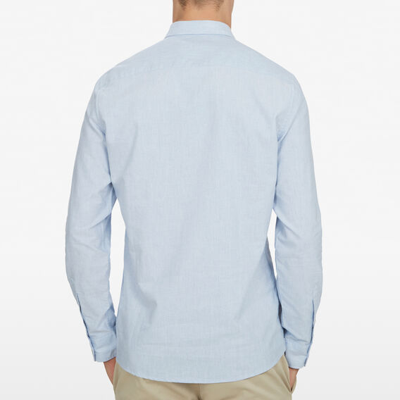 PALE BLUE MELANGE CUSTOM FIT SHIRT  PALE BLUE MELANGE  hi-res