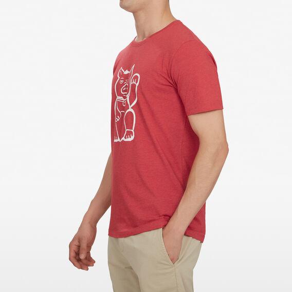 FORTUNE PIG T-SHIRT  RED MARL  hi-res