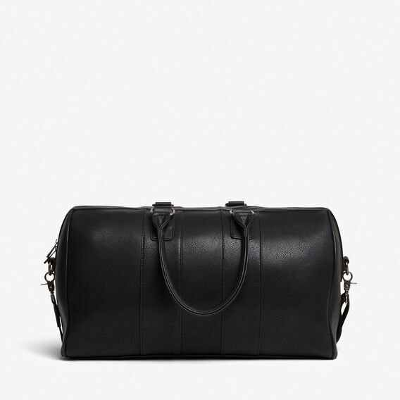 LEATHER LOOK WEEKENDER BAG  BLACK  hi-res