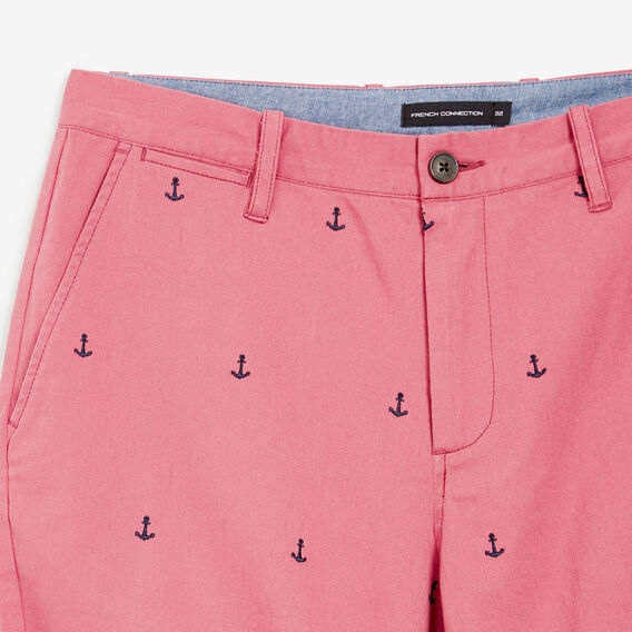 EMBROIDERED ANCHOR SHORT  MELON  hi-res