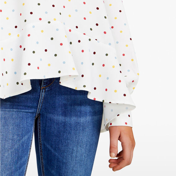WINTER SPOT BLOUSE  SUMMER WHITE/MULTI  hi-res