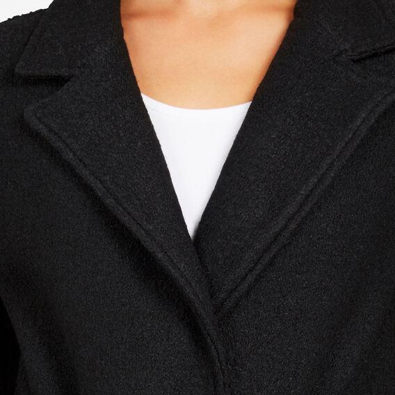 BOILED WOOL COAT  BLACK  hi-res