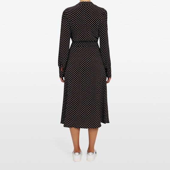 MINI SPOT DRESS  BLACK/SUMMER WHITE  hi-res