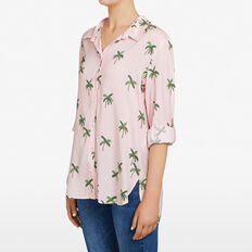 COCONUT TREE SHIRT  PASTEL PINK/MULTI  hi-res
