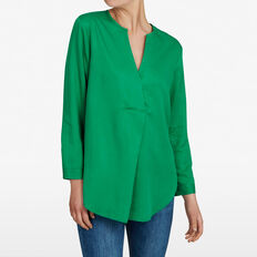 POP OVER SHIRT  LEAF GREEN  hi-res