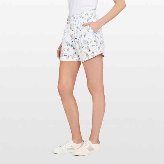 FLORAL HIGH WAISTED SHORT  SUMMER WHITE/MULTI  hi-res