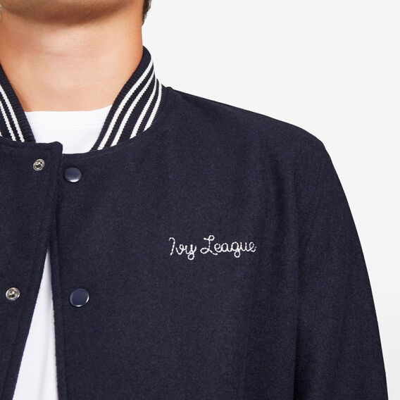 RETRO VARSITY JACKET  NAVY  hi-res