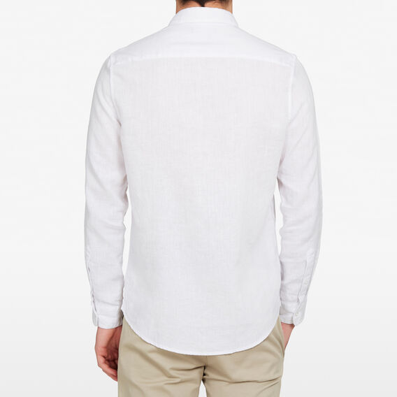LINEN CLASSIC FIT SHIRT  WHITE  hi-res