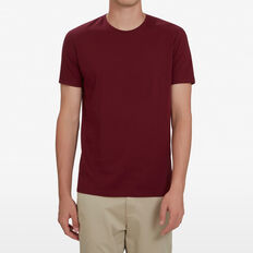 CLASSIC CREW NECK T-SHIRT  DARK BURGUNDY  hi-res
