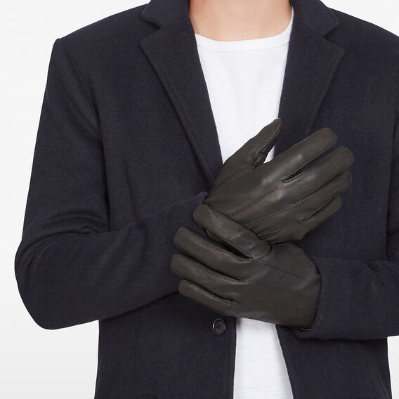 LEATHER GLOVES  BLACK  hi-res