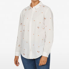 FOX EMBROIDERED SHIRT  WHITE/MULTI  hi-res