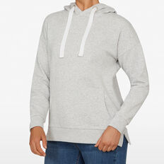 THE ESSENTIAL HOODIE  GREY MARLE  hi-res