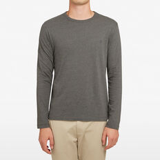 CLASSIC LONG SLEEVE T-SHIRT  CHARCOAL MARLE  hi-res