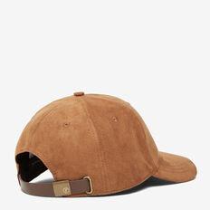 FAUX SUEDE CAP  DARK TAN  hi-res