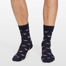 DUCK 1PK SOCKS  MARINE BLUE  hi-res
