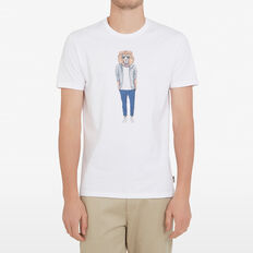 HIPSTER LION T-SHIRT  WHITE  hi-res