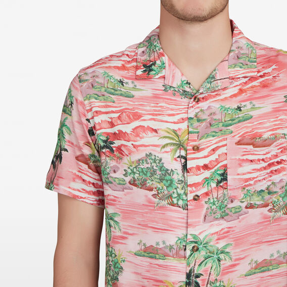 RETRO PALMS CLASSIC FIT SHIRT  MULTI  hi-res
