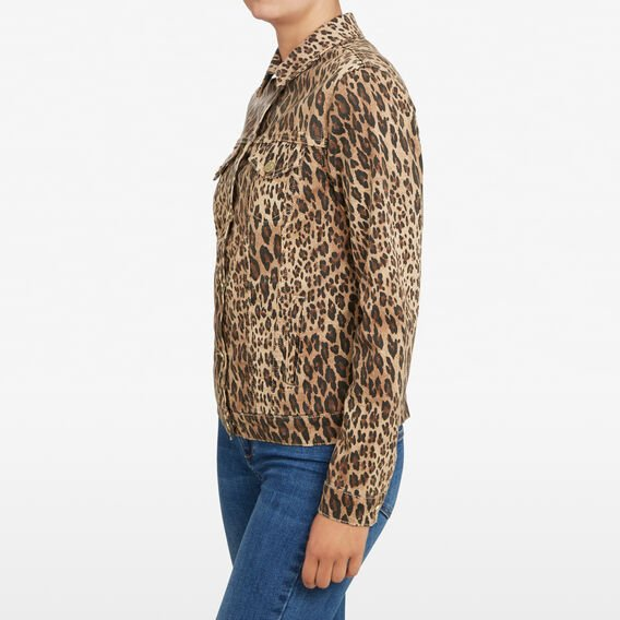 ANIMAL PRINT DENIM JACKET  MULTI  hi-res