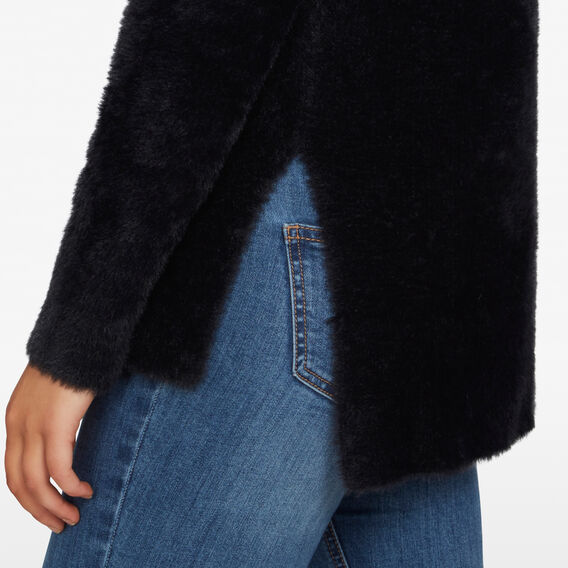 FLUFFY SOFT KNIT  BLACK  hi-res
