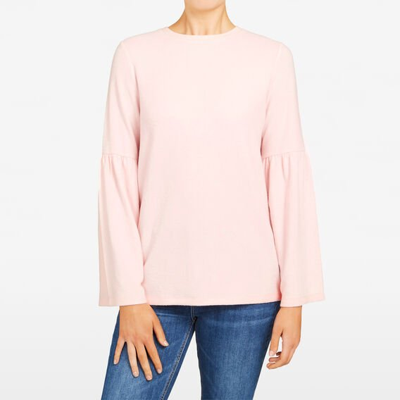 FLUFFY BELL SLEEVE TEE  BLUSH  hi-res