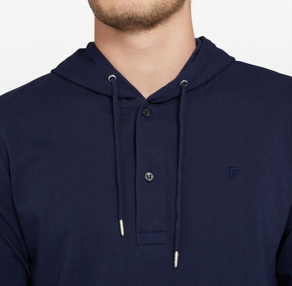 JERSEY LONG SLEEVE HOODIE  OXFORD BLUE  hi-res