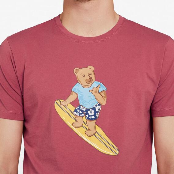 SURFER BEAR T-SHIRT  MELON  hi-res