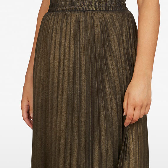 GOLD PLEATED SKIRT  GOLD  hi-res