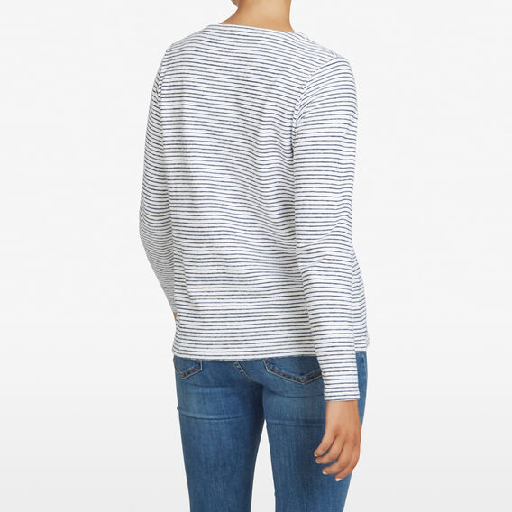 RELAXED STRIPE LONGSLEEVE  SUMMER WHITE/NOCTURN  hi-res