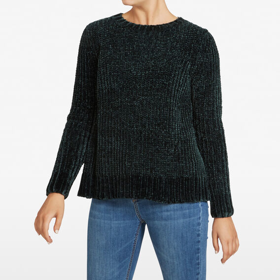 CHENILLE JUMPER  FOREST GREEN  hi-res