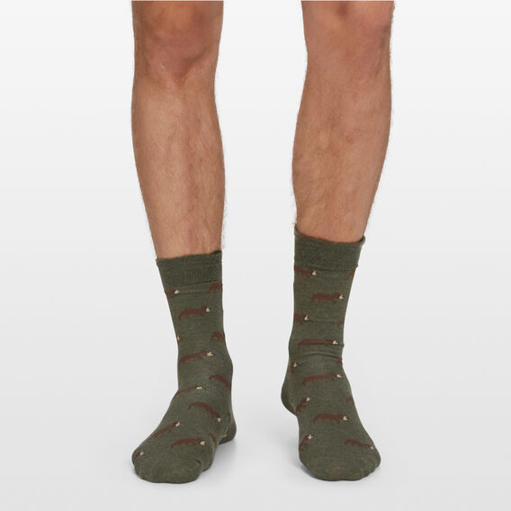BEARS 1PK SOCKS  KHAKI MARL  hi-res