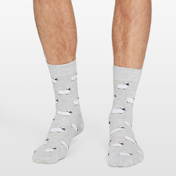 SHEEP 1PK SOCKS  GREY MARL  hi-res