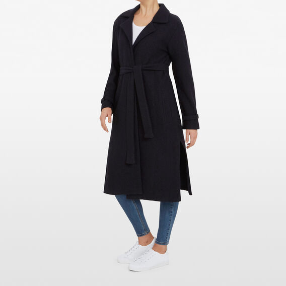 LONGLINE WRAP COAT  UTILITY BLUE  hi-res